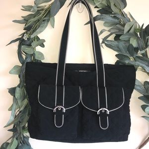 Vera Bradley Black Shoulder Diaper Bag
